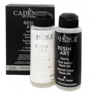 Cadence епоксидна смола, двокомпонентна, прозора Resin Art, 120+120мл (RA120)
