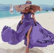 Картина по номерам Идейка 40*40см Пляжная романтика (КНО4623)