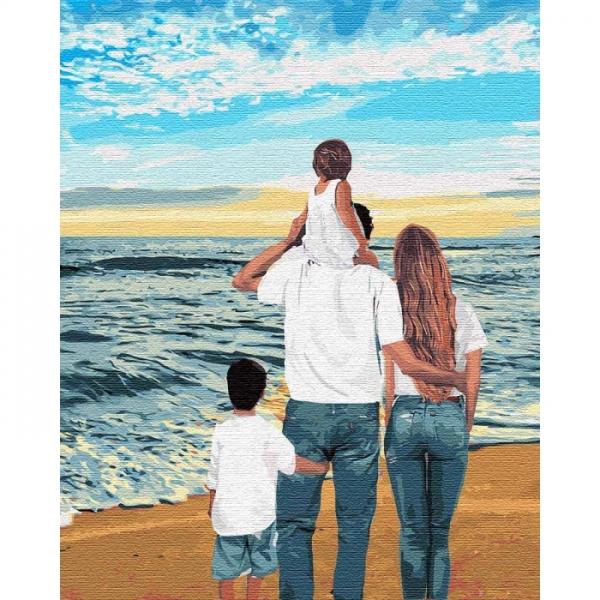 Картина по номерам Идейка 40*50см Моя семья (КНО4743)