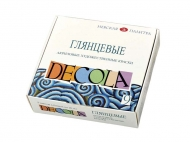 Набор глянцевых акриловых красок Decola, 9 цветов 20 мл