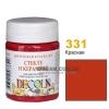 Краска акриловая для стекла и керамики DECOLA 50 мл, 331 Красная