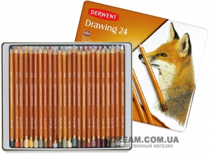 Набор карандашей DERWENT Drawing (Англия), 24 цвета