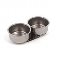 Масленка художественная двойная металлическая (4см)