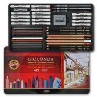 Набор художественный GIOCONDA 8891 39 предметов в мет. пенале