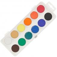 Краски акварельные в пластиковом пенале 12 цв (бел)