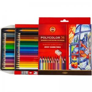 Карандаши цветные художественные POLYCOLOR 36 цв