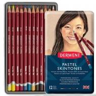 Набор пастельных карандашей Derwent Телесные оттенки Pastel 12 цв. в метал. (2300563)