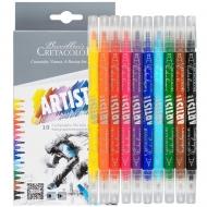 Набор двухсторонних маркеров для калиграфии Artist Studio Line, 10шт., Cretacolor