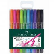 Ручка шариковая набор 10 шт CX COLOUR 1,0 мм