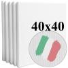 Набор холстов Monet среднее зерно 40*40 см итальянский хлопок 335 г/м (5 шт.)
