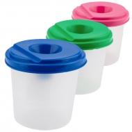 Стакан-непроливайка пластик цветной одинарный