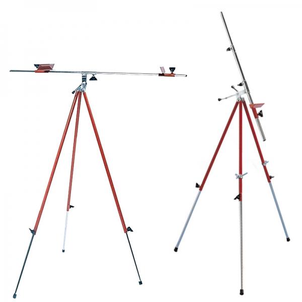 Мольберт-тренога 15131 металлическая, красная (92х92х203см) + сумка с ремешком, высота полотна до 78