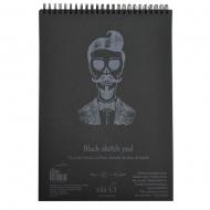 Альбом для рисунка на спирали SMLT Authentic (black) А4 165г/м2 30 л. черная бумага (EB-30TS/BLACK)