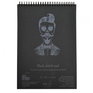 Альбом для графики SMILTAINIS AUTHENTIC черная бумага 30л А4 165г/м2