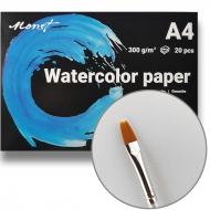 Бумага акварельная A4 Monet Premium 300 г/м2 20 листов