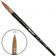 Кисть колонок микс круглая короткая матовая ручка пластиковая обойма Roubloff №10 (ЖD1-10,05П)