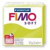 Полимерная глина (пластика) Fimo Soft, 57г, Зеленый лайм