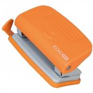 Дырокол до 10л Economix пластиковый корпус с линейкой оранжевый