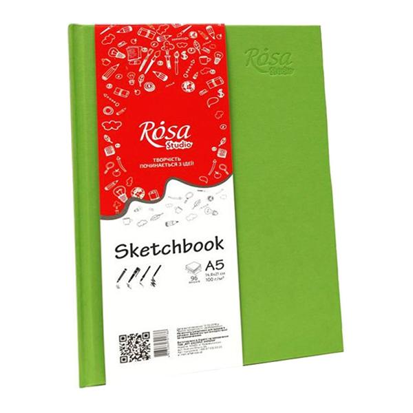 Блокнот для эскизов ROSA Studio фисташковый A5 (14,8х21 см) 100г/м 96 л. (16R5018)