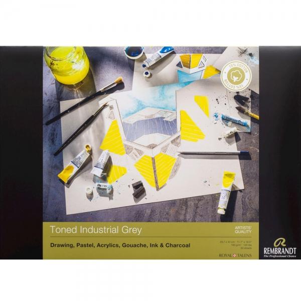 Склейка для пастели Rembrandt A3 180г/м2 50л. Toned Industrial Grey (93080001)