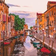 Картина по номерам Идейка 40*40см Венецианський вечер (КНО3571)