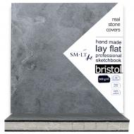 Блокнот для эскизов PRO Stonebook Bristol 19,5*19,5см 308г/м2 32л белая и гладкая бумага SMILTAINIS