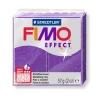 Полимерная глина (пластика) Fimo Effect, 57г, Фиолетовая с блестками