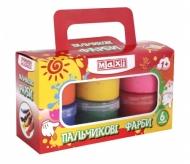 Краски для детей от года (пальчиковые), 6 цветов