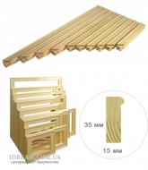 Планки модули для сбора подрамника №0 (3,5 см), 15*35