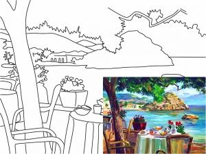 Раскраска на холсте Морские пейзажи №4, 30*40