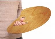 Палитра деревянная для художников профессиональная, овальная 30*40 см