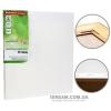 Холст на подрамнике, мелкое зерно, хлопок (БОКОВАЯ натяжка), 30*30 см