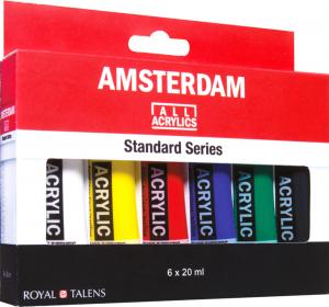 Набор акриловых красок AMSTERDAM STANDART Голландия 6 цветов 20 мл