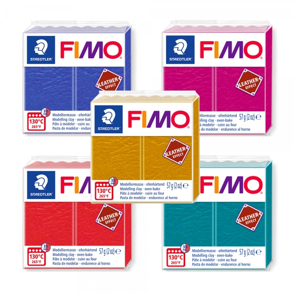 Пластика Leather-effect Fimo 57гр