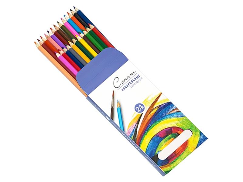 """Набор акварельных карандашей """"Сонет"""" 24 цвета"""