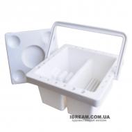Мойка для кисточек (кистемойка) пластиковая, 13*13*9 см