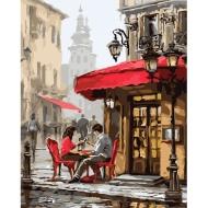 "Картина по номерам Идейка 40х50см ""Свидание в кафе"""