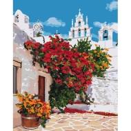 """Картина по номерам Идейка 40х50см  """"Цветущая Греция"""""""