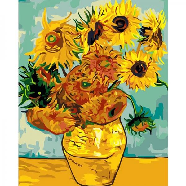 Картина по номерам Идейка 40*50 см Подсолнухи Ван Гог (КНО098)