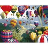"""Картина по номерам Идейка 40х50см """"Воздушные шары"""""""