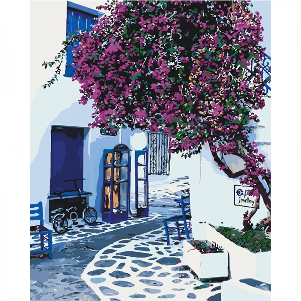 Картина по номерам Идейка 40*50 см Солнечная Греция (КНО2168)