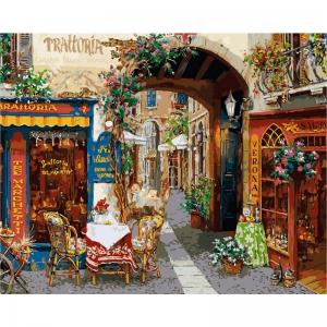 Картина по номерам Идейка 40*50 см Волшебный переулок (КНО2173)