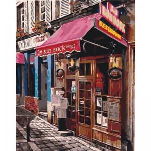 Картина по номерам Идейка 40*50 см Любимый магазинчик (КНО2195)