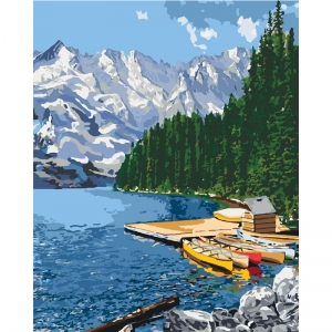 Картина по номерам Идейка 40*50 см Горное озеро (КНО2223)