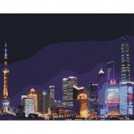 Картина по номерам Идейка 40*50 см Ночной Шанхай (КНО3507)