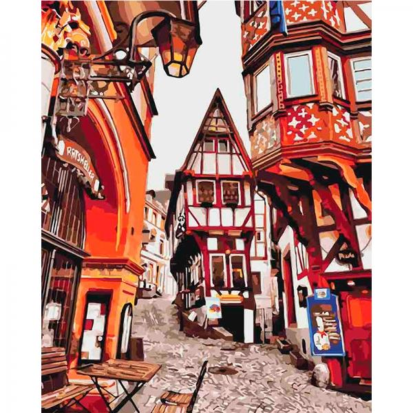 Картина по номерам Идейка 40*50 см Яркие улицы Германии (КНО3539)