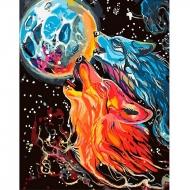 Картина по номерам Идейка 40*50 см Бесстрашные волки (КНО4007)