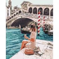 """Картина по номерам Идейка 40х50см  """"Влюбленная в Венецию"""""""