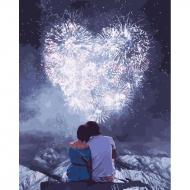 """Картина по номерам Идейка 40х50см """"Влюбленные серца"""""""