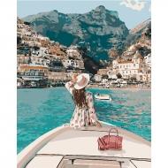 Картина по номерам Идейка 40*50 см Путешествие на яхте (КНО4614)